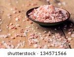 pink salt from the himalayas | Shutterstock . vector #134571566