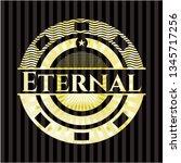 eternal gold shiny badge   Shutterstock .eps vector #1345717256