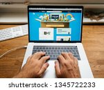 paris  france   jul 16  hands... | Shutterstock . vector #1345722233