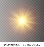 star explodes on transparent... | Shutterstock .eps vector #1345729169