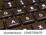 wasd gamer keys on black... | Shutterstock . vector #1345735670