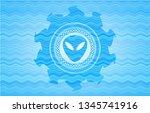alien icon inside water concept ... | Shutterstock .eps vector #1345741916