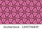 vector seamless illustration... | Shutterstock .eps vector #1345746839