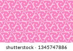 pattern with abstract illusion... | Shutterstock .eps vector #1345747886