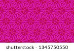 pattern with abstract illusion... | Shutterstock .eps vector #1345750550