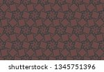 pattern with curved line.... | Shutterstock .eps vector #1345751396