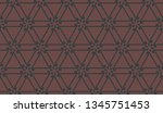 pattern with curved line.... | Shutterstock .eps vector #1345751453