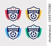 soccer logo or football club... | Shutterstock .eps vector #1345755380