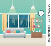 living room with furniture....   Shutterstock .eps vector #1345763210