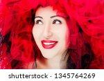 portrait of beautiful young... | Shutterstock . vector #1345764269