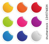 colorful round website sticker | Shutterstock .eps vector #134576834