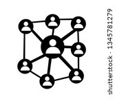 network icon symbol | Shutterstock .eps vector #1345781279