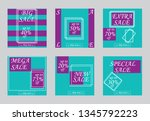 sale banners  flyers with...   Shutterstock .eps vector #1345792223