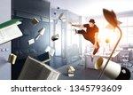 dance is his world . mixed media | Shutterstock . vector #1345793609