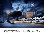 business people shaking hands ... | Shutterstock . vector #1345796759
