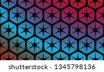 hologram abstract background.... | Shutterstock .eps vector #1345798136
