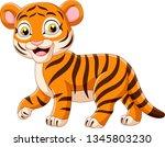cartoon funny baby tiger | Shutterstock .eps vector #1345803230