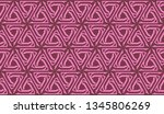 pattern with abstract illusion... | Shutterstock .eps vector #1345806269