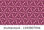 pattern with abstract illusion... | Shutterstock .eps vector #1345807046