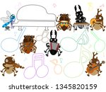 concert of the summer insect. | Shutterstock .eps vector #1345820159