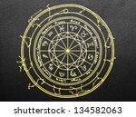 zodiac signs on black wall   Shutterstock . vector #134582063