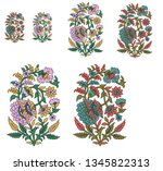 decorative paisley  mughal... | Shutterstock . vector #1345822313