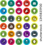 white solid icon set  soap... | Shutterstock .eps vector #1345835930