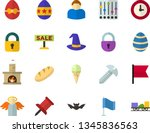 color flat icon set   easter... | Shutterstock .eps vector #1345836563