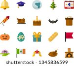 color flat icon set   easter... | Shutterstock .eps vector #1345836599