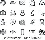 bold stroke vector icon set  ... | Shutterstock .eps vector #1345838363