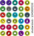 white solid icon set  soap... | Shutterstock .eps vector #1345839233