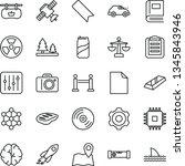 thin line vector icon set  ... | Shutterstock .eps vector #1345843946