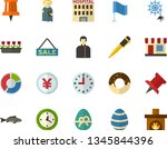 color flat icon set   easter... | Shutterstock .eps vector #1345844396