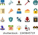 color flat icon set   bible... | Shutterstock .eps vector #1345845719