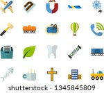 color flat icon set   church... | Shutterstock .eps vector #1345845809