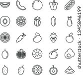 thin line vector icon set   hot ... | Shutterstock .eps vector #1345846199