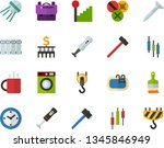 color flat icon set   school... | Shutterstock .eps vector #1345846949