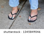 turquoise toe nails             ... | Shutterstock . vector #1345849046