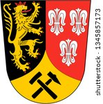 Coat of arms of Amberg-Sulzbach district. Germany