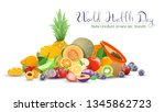 fruits collection for world... | Shutterstock .eps vector #1345862723