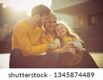 making family time  fun time.... | Shutterstock . vector #1345874489