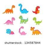 dinosaur vector | Shutterstock .eps vector #134587844