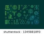 biotech vector modern colorful... | Shutterstock .eps vector #1345881893