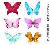 color beautiful butterflies ...   Shutterstock .eps vector #1345894490