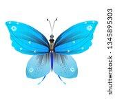 beautiful butterflies  blue...   Shutterstock . vector #1345895303