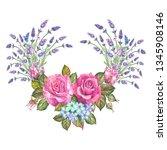 vintage flowers illustration...   Shutterstock . vector #1345908146