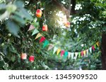 garland of colorful flags and...   Shutterstock . vector #1345909520