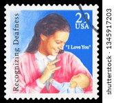 united states   circa 1993  a... | Shutterstock . vector #1345917203