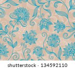 floral background with... | Shutterstock .eps vector #134592110