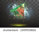 3d vector crystal on a... | Shutterstock .eps vector #1345933826